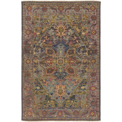 Parmenter Hand-Knotted Green/Purple Area Rug Rug Size: Rectangle 9 x 13