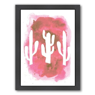 Cactus Framed Painting Print Size: 11