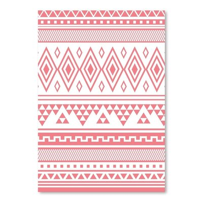 'Coral Tribal' Graphic Art Print Format: Poster, Size: 11