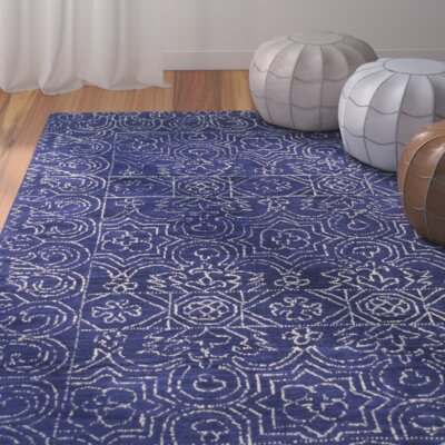 Banneker Hand-Tufted Navy Area Rug
