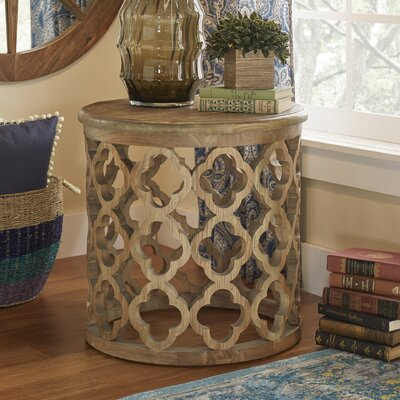 Vedhika End Table Finish: Brown