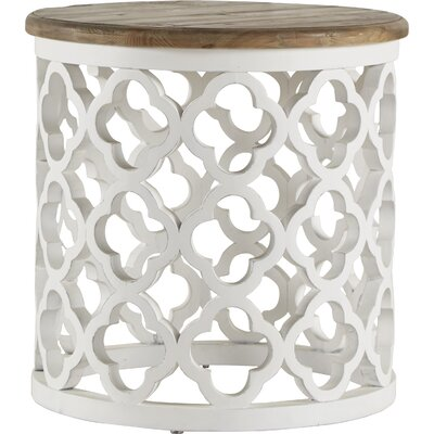 Vedhika End Table Finish: White