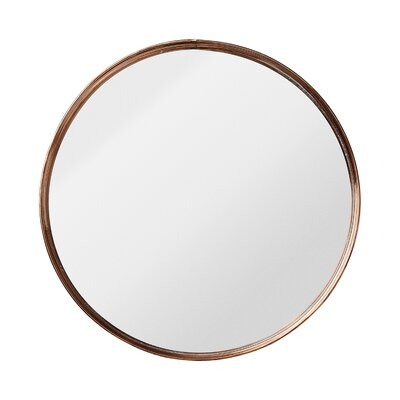Bungalow Rose Nova Round Metal Framed Mirror