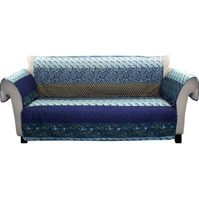 Somerton Bright Multicolor Loveseat Protector Color: Blue Multi