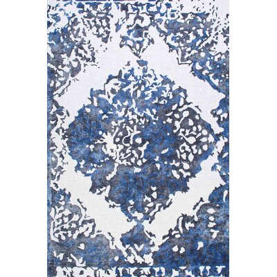 Simek Hand-Tufted Blue/Gray Area Rug Rug Size: Rectangle 5 x 8