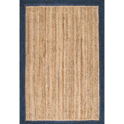Lewisetta Blue/Brown Area Rug Rug Size: 4 x 6