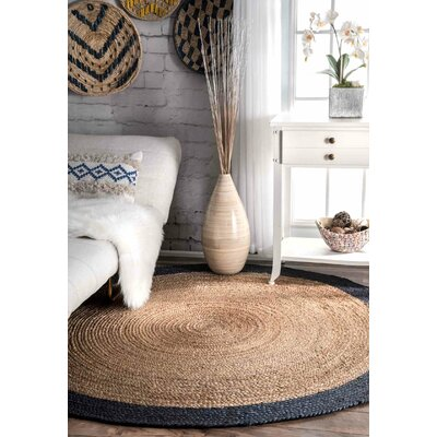Lewisetta Blue/Brown Area Rug Rug Size: Round 6