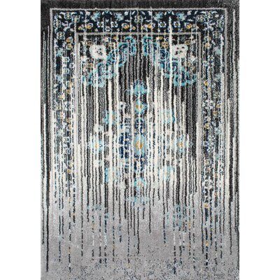 Sirianni Black/Gray Area Rug Rug Size: Rectangle 4 x 6