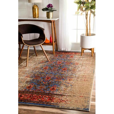 Solum Blue/Brown Area Rug Rug Size: Rectangle 5 x 8
