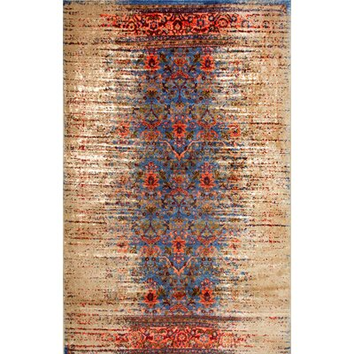 Solum Blue/Brown Area Rug Rug Size: 8 x 10