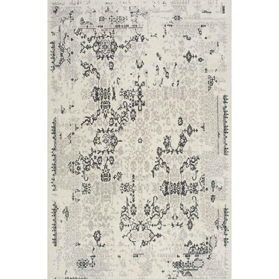 Situ Hand-Tufted Gray/Black Area Rug Rug Size: 5 x 8