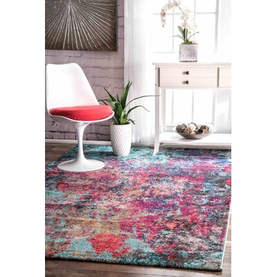 Taina Pink/Blue Area Rug Rug Size: Rectangle 41 x 6