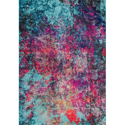 Taina Pink/Blue Area Rug Rug Size: 41 x 6