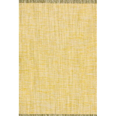 Tamez Flatwoven Yellow Area Rug Rug Size: Rectangle 76 x 96