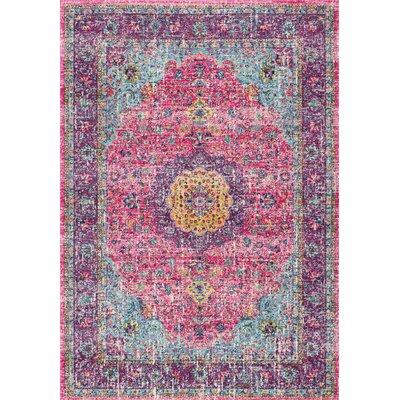 Varun Pink/Purple Area Rug Rug Size: 4' x 6'
