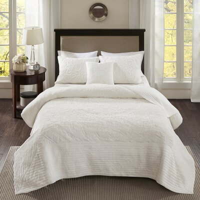 Gautam 4 Piece Coverlet Set Size: Full/Queen, Color: Ivory