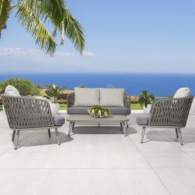 Malizia 4 Piece Deep Seating Group