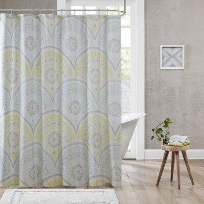 Kabir Cotton Printed Shower Curtain