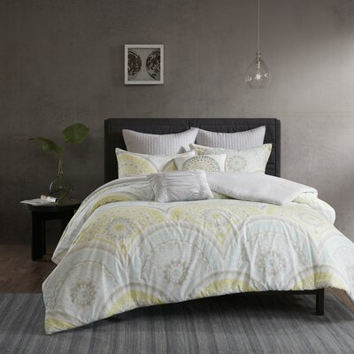 Kabir 7 Piece Duvet Cover Set Size: Full/Queen