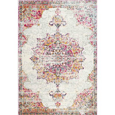 Darchelle Beige/Pink Area Rug Rug Size: Rectangle 4 x 6