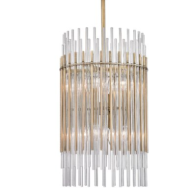 Saba 8-Light Drum Pendant Finish: Aged Brass
