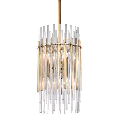 Saba 6-Light Pendant Finish: Aged Brass