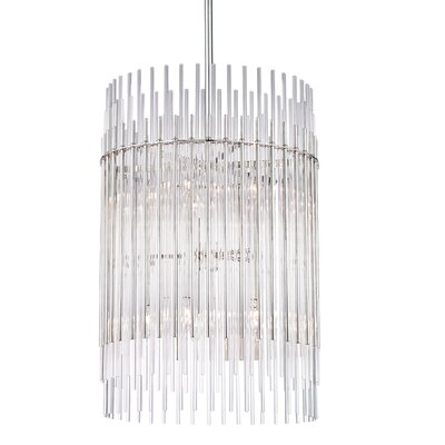 Saba 10-Light Pendant Finish: Aged Brass