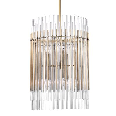 Saba 10-Light Pendant Finish: Polished Nickel