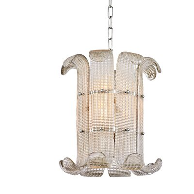 Vijay 4-Light Drum Pendant Finish: Polished Nickel