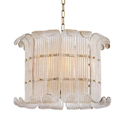 Vijay 8-Light Drum Chandelier Finish: Aged Brass
