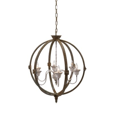 Rekha 6-Light Globe Pendant