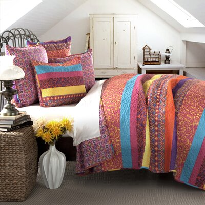 Todrick Cotton 5 Piece Reversible Coverlet Set Size: Full / Queen