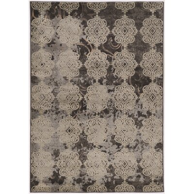Pasho Beige/Black Area Rug Rug Size: Rectangle 8 x 104