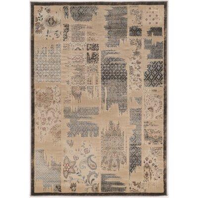 Pasho Beige/Gray Area Rug Rug Size: 5 x 76