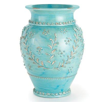 Trumpet Aqua Tall Vase