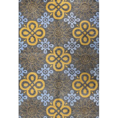 Amesville Grey Area Rug Rug Size: 86 x 116