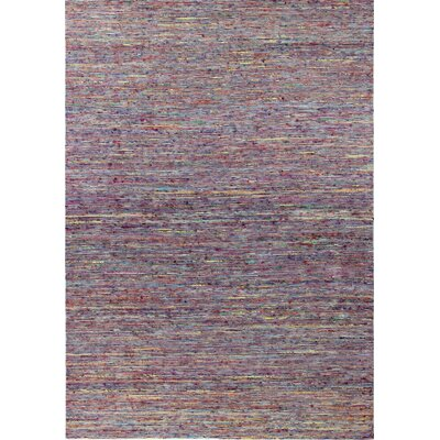 Amira Hand-Woven Red Area Rug Rug Size: 76 x 96