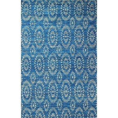 Amira Hand-Woven Royal Area Rug Rug Size: 76 x 96