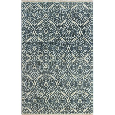 Arsenal Hand-Knotted Azure Area Rug Rug Size: 89 x 119