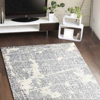 Arthurs Hand-Tufted Ivory/Grey Area Rug Size: Runner 26 x 8