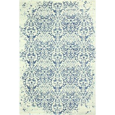 Arlingham Ivory/Blue Area Rug Rug Size: 36 x 56