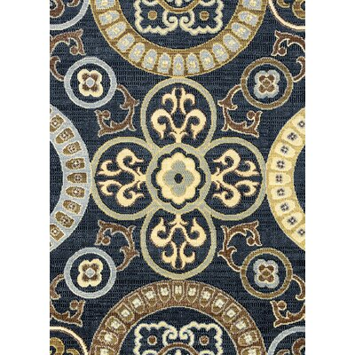 Anthony Black Area Rug Rug Size: Rectangle 53 x 77