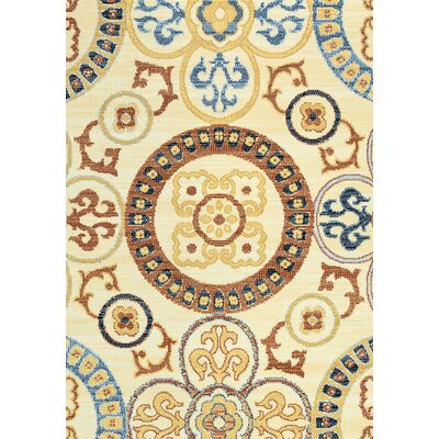 Anthony Ivory Area Rug Rug Size: Rectangle 5'3