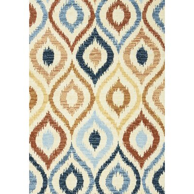 Anthony Ivory Area Rug Rug Size: 53 x 77