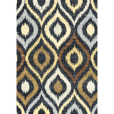 Anthony Black Area Rug Rug Size: 53 x 77