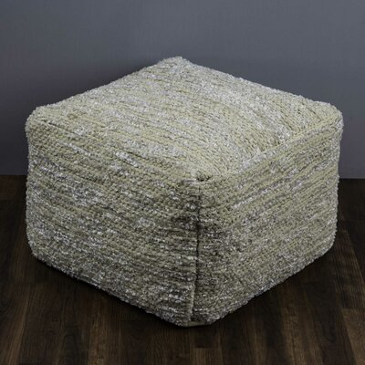Devana Square Pouf Ottoman Upholstery: Natural