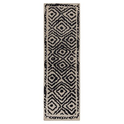 Sala Coal Black Area Rug Rug Size: Runner 26 x 8