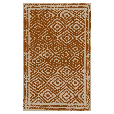 Sala Hand Woven Wool Burnt Orange/Beige Area Rug Rug Size: Rectangle 33 x 53