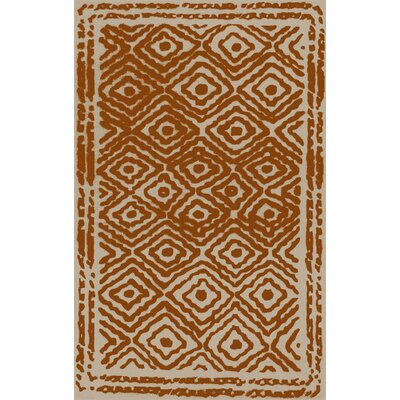 Sala Burnt Orange/Beige Area Rug Rug Size: 5 x 8