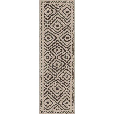Sala Ivory Area Rug Rug Size: Runner 26 x 8